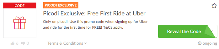 Special offers at Uber
