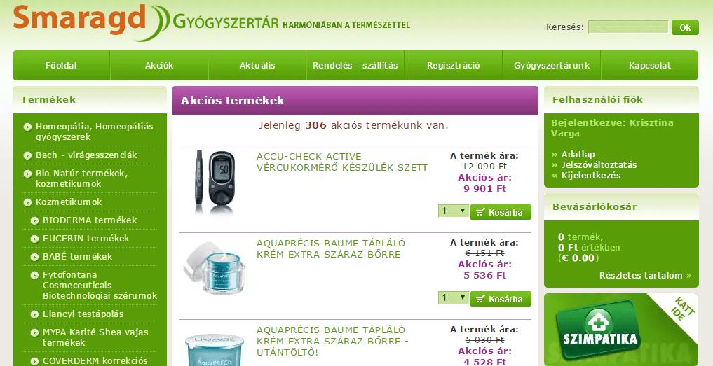 smaragd gyogyszertar akciok
