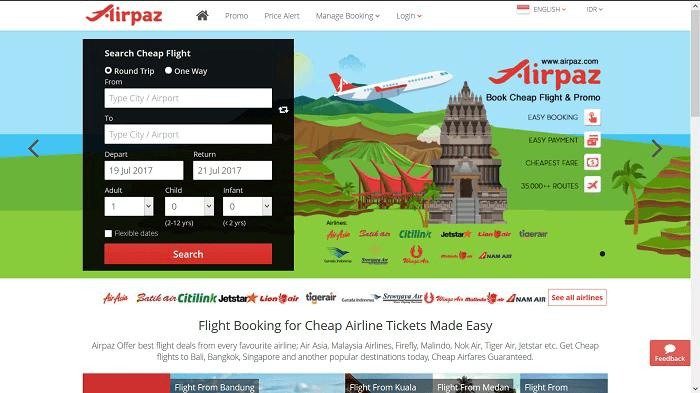 Situs resmi AIRPAZ www.airpaz.com/id/