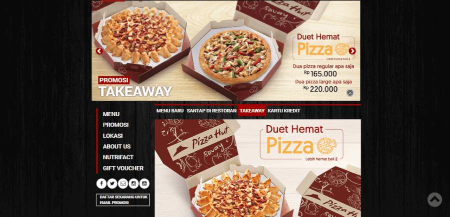 Diskon take away Pizza Hut