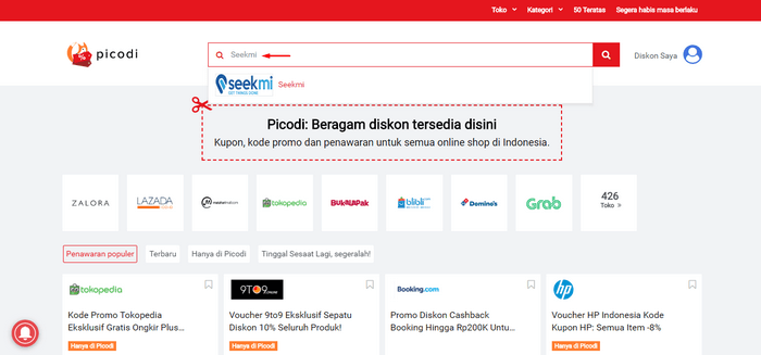 ekmi-Picodi.png : Tawaran promo dan Kode Diskon SEEKMI di situs PICODI