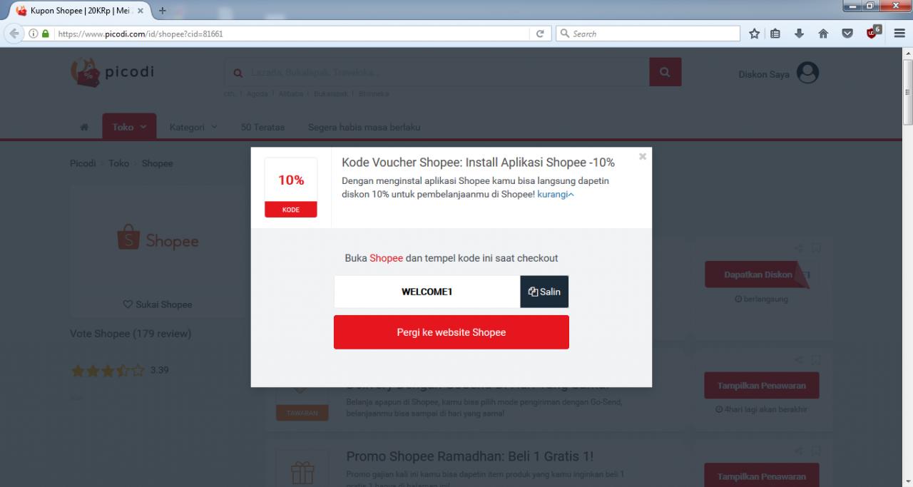 Kode Diskon Shopee 10%