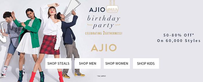 Visit Ajio's webpage today