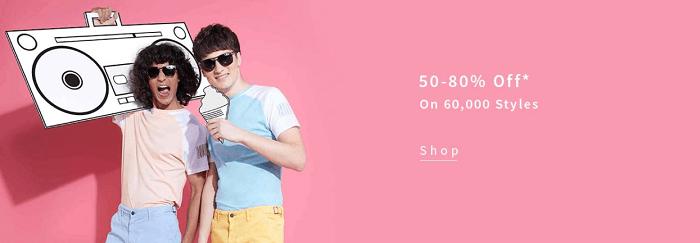 Men's clothing on offer
