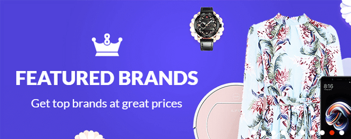 Featured brands and products