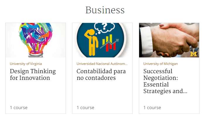 New courses for business industry