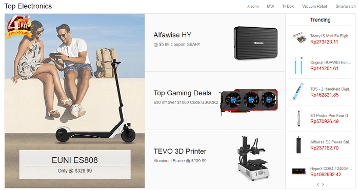 Electronics much cheaper