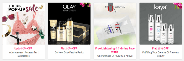 Brands featured at Nykaa
