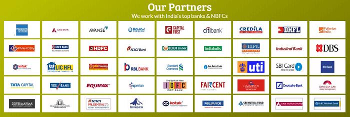 Paisa Bazaar's partners