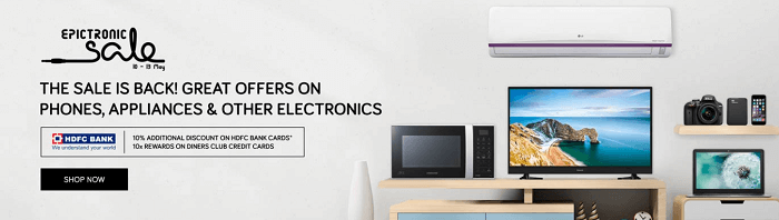 Electronics' sale