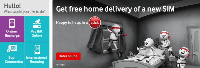 Find all information on Vodafone's website