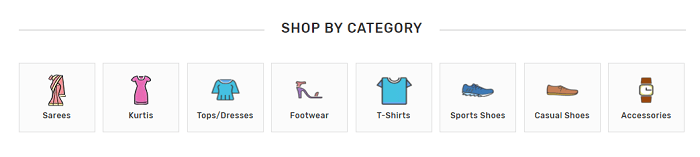 Use categories to buy what you need