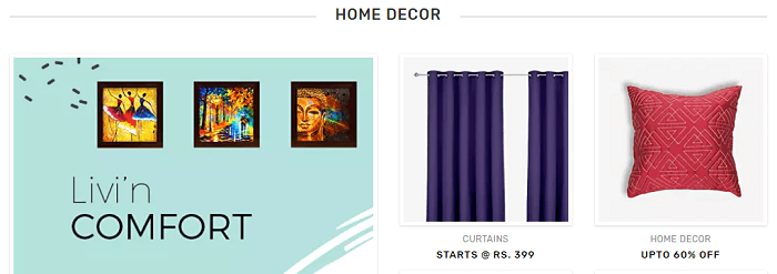 Home decor items at Voonik