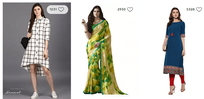 Indian wear at the store