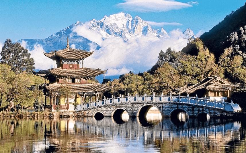 villaggio cinese suggestivo