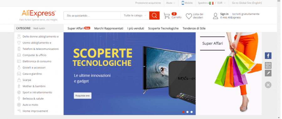 homepage aliexpress