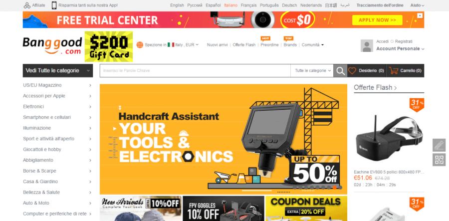 homepage banggood