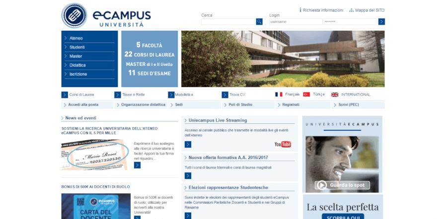 homepage ecampus