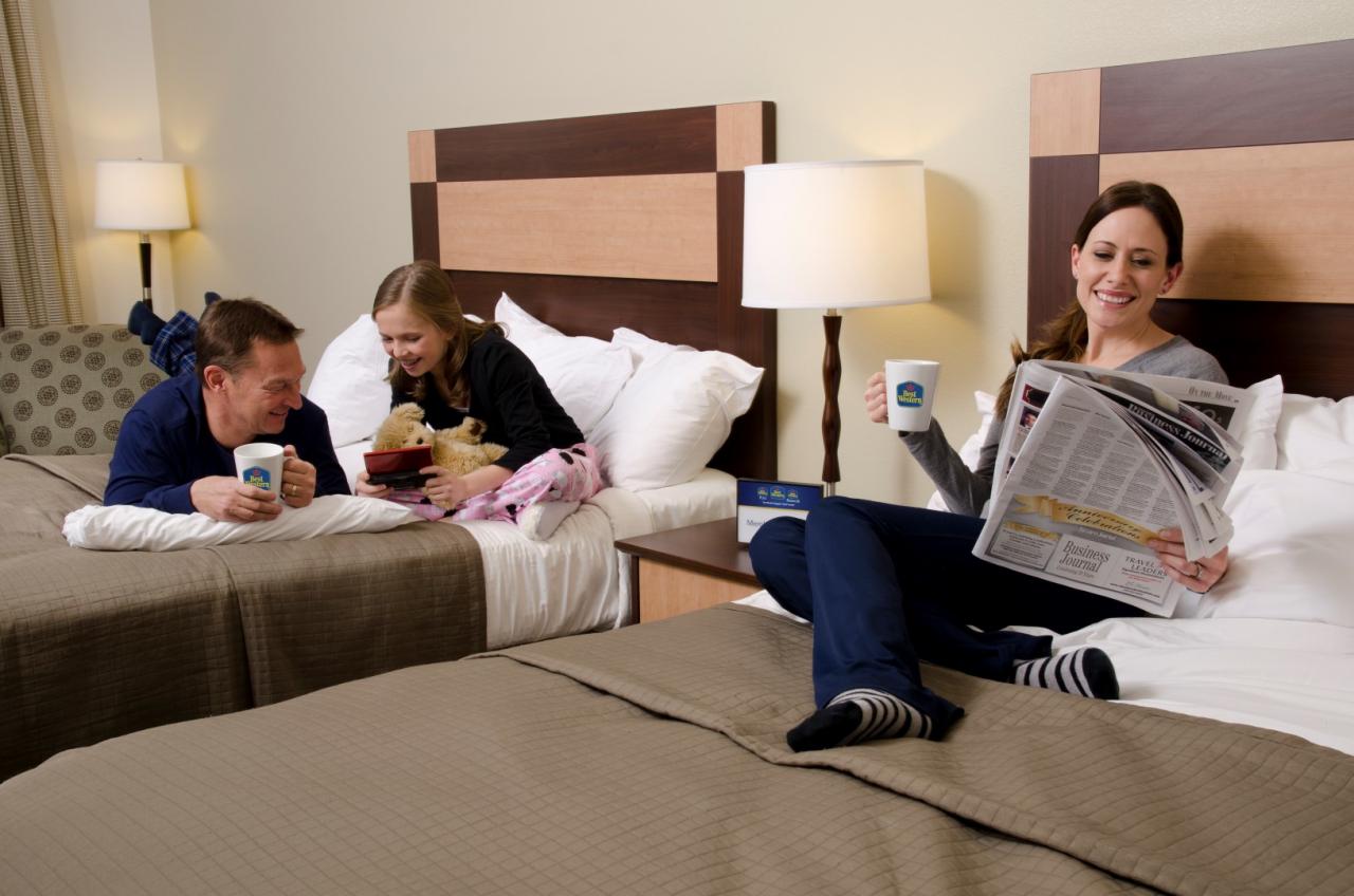 famiglia in albergo