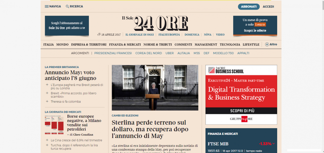 homepage ufficiale
