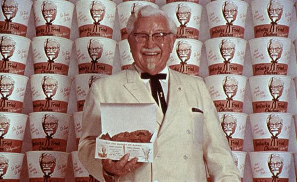 il colonnello sanders, fondatore di kfc