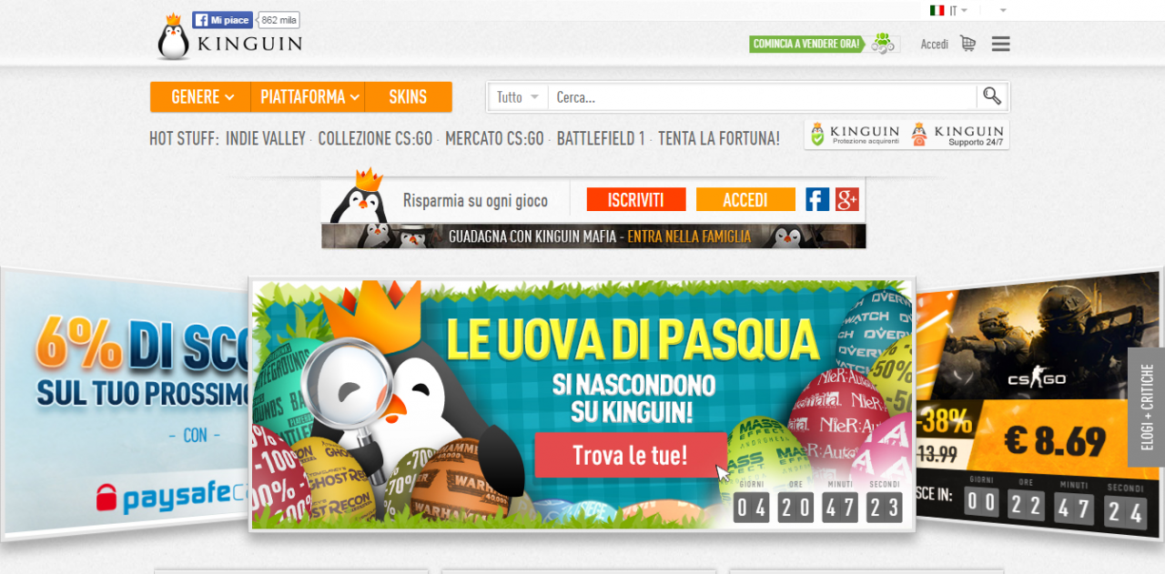 homepage kinguin