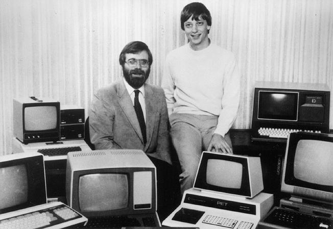 bill gates e paul allen, fondatori di microsoft