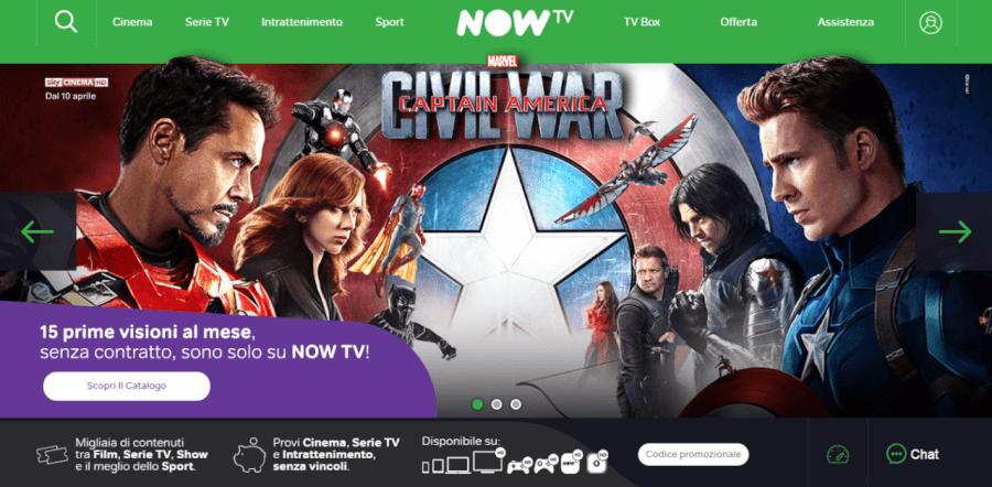 homepage nowtv