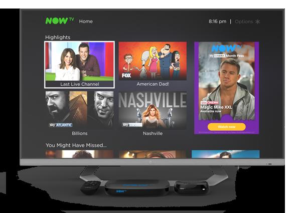 televisore con nowtv