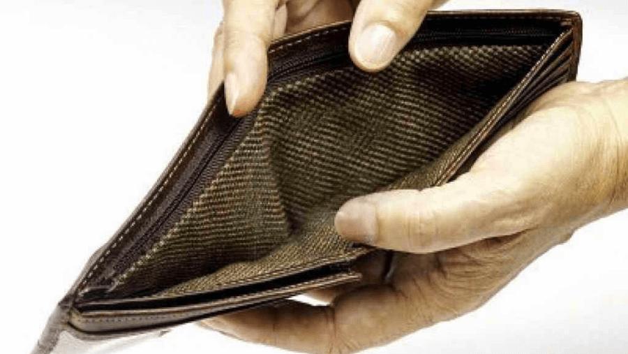 portafoglio vuoto