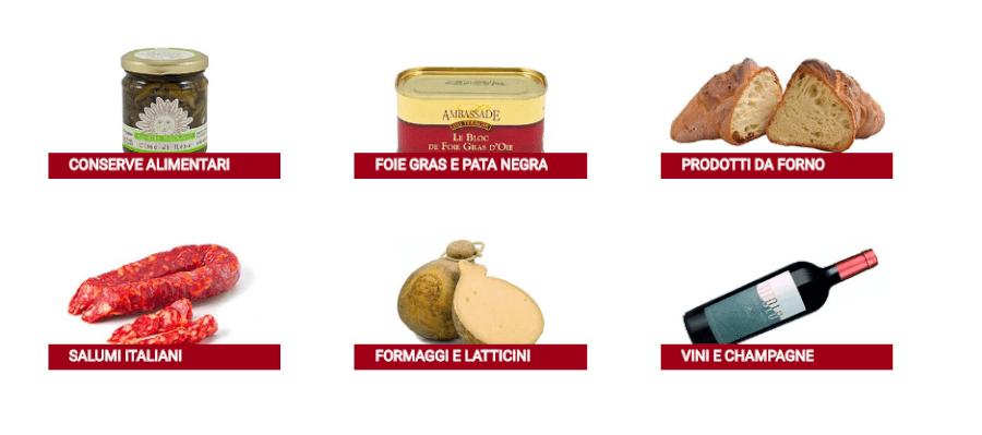 tipologie prodotti disponibili