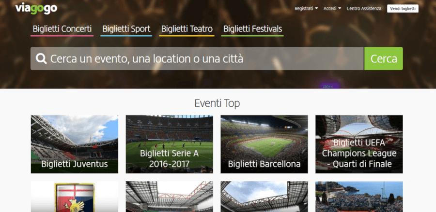 homepage viagogo
