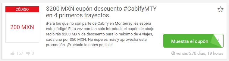codigos cabify