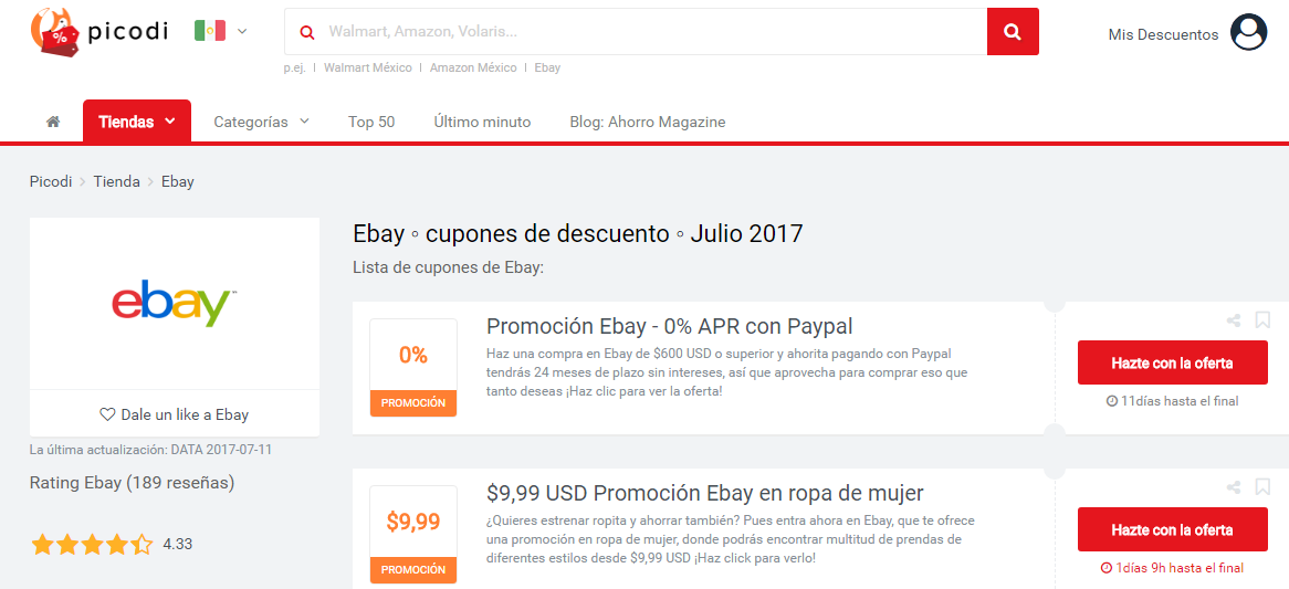promociones ebay