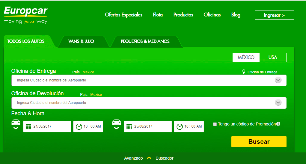 promociones europcar