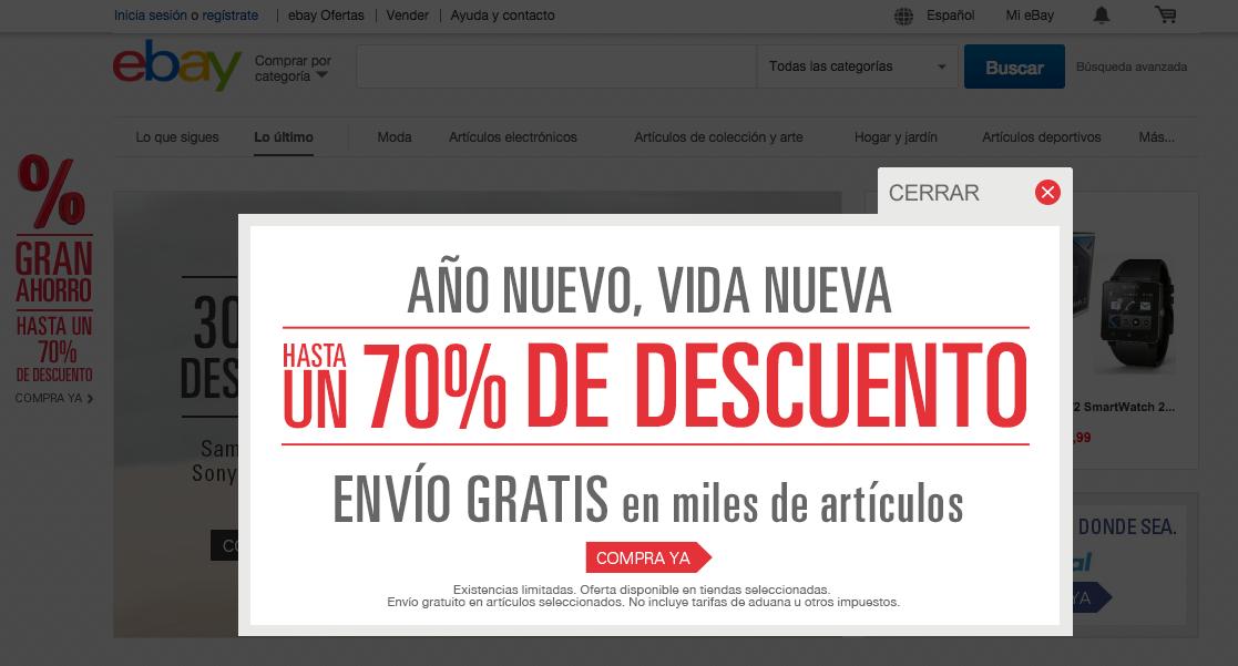 eBay te ofrece muchos descuentos en la apmlia gama de sus productos