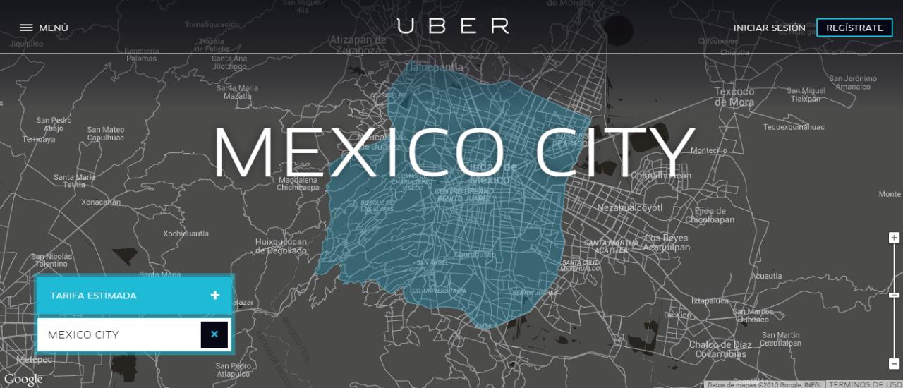Sitio web de Uber México