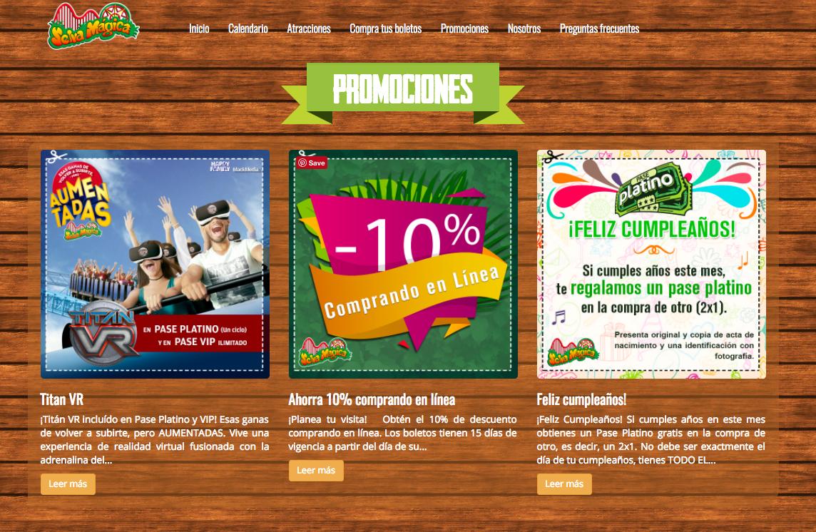 promociones selva magica