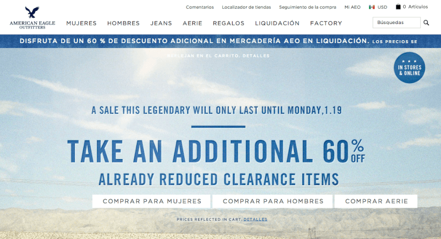 promociones american eagle outfitters
