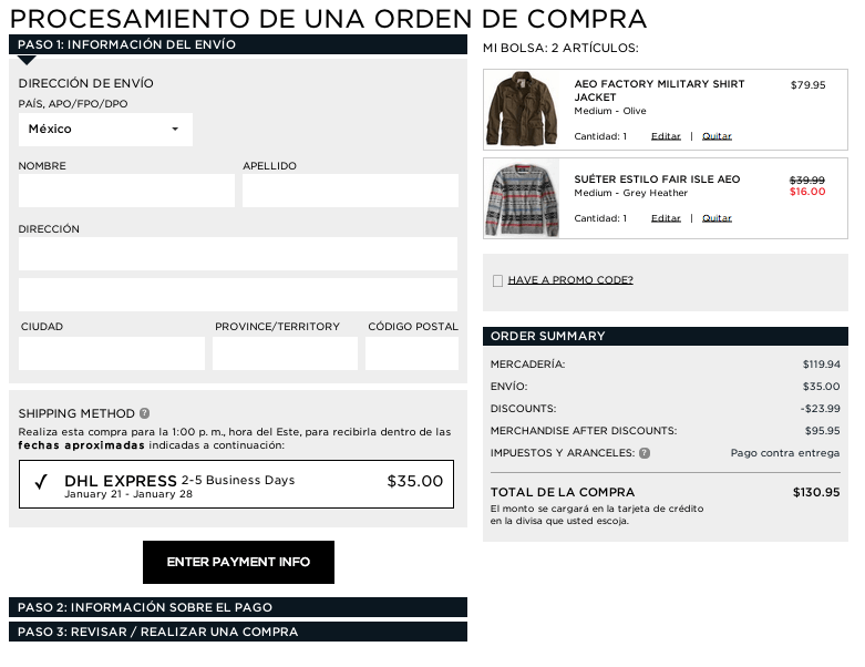 beneficios american eagle outfitters