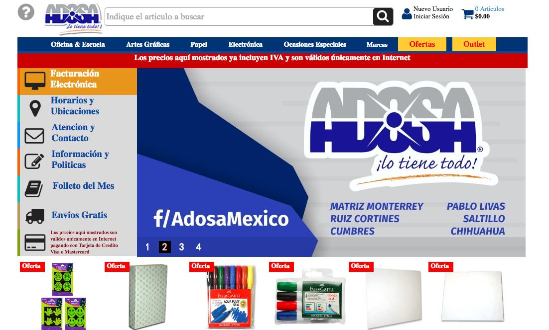 catálogo de Adosa