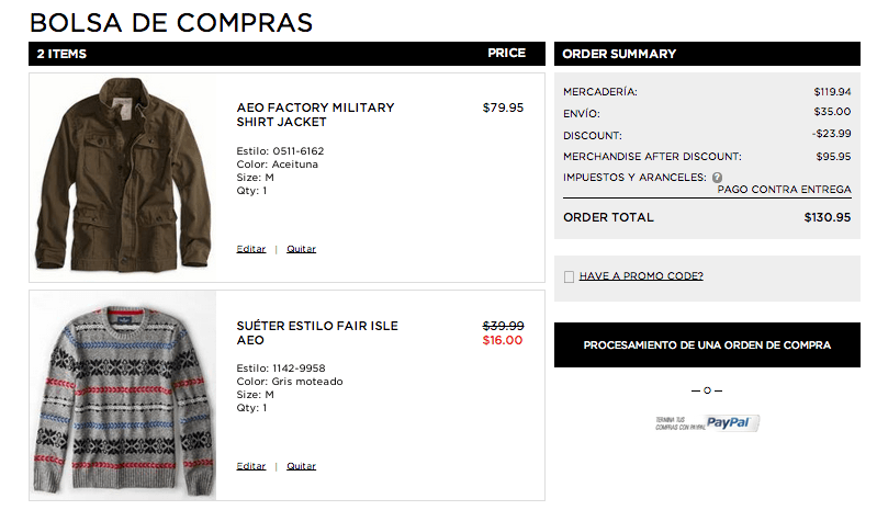 ahorro american eagle outfitters