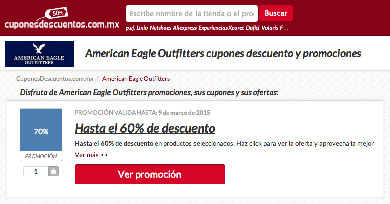 descuentos american eagle outfitters