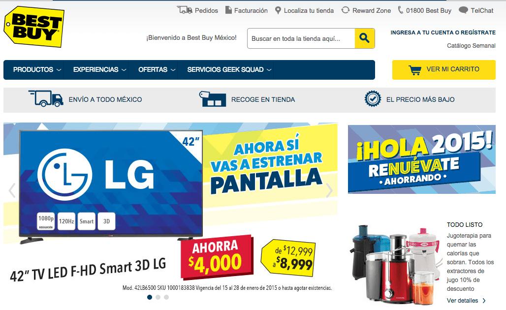Productos y marcas de tienda online Best Buy