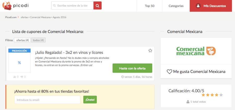 código descuento comercial mexicana