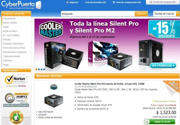 ofertas tienda en línea CyberPuerta