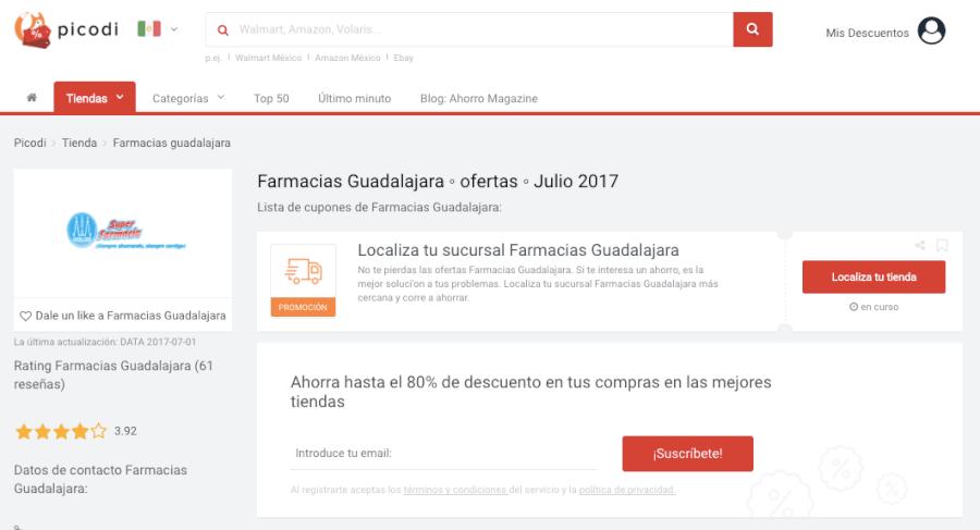 Promoción Farmacias Guadalajara | $ 500 | Junio 2018