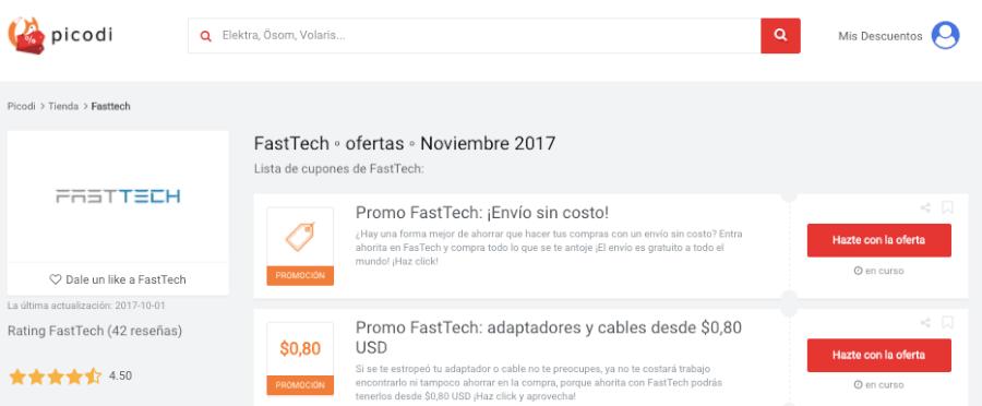 Promociones Fasttech Picodi mx