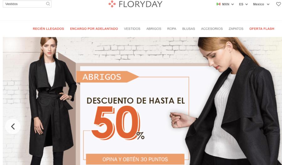 Página home FloryDay México