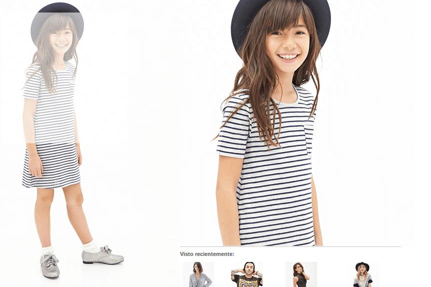 Niña - las más jóvenes también se visten con estilo y ahorran en ropa